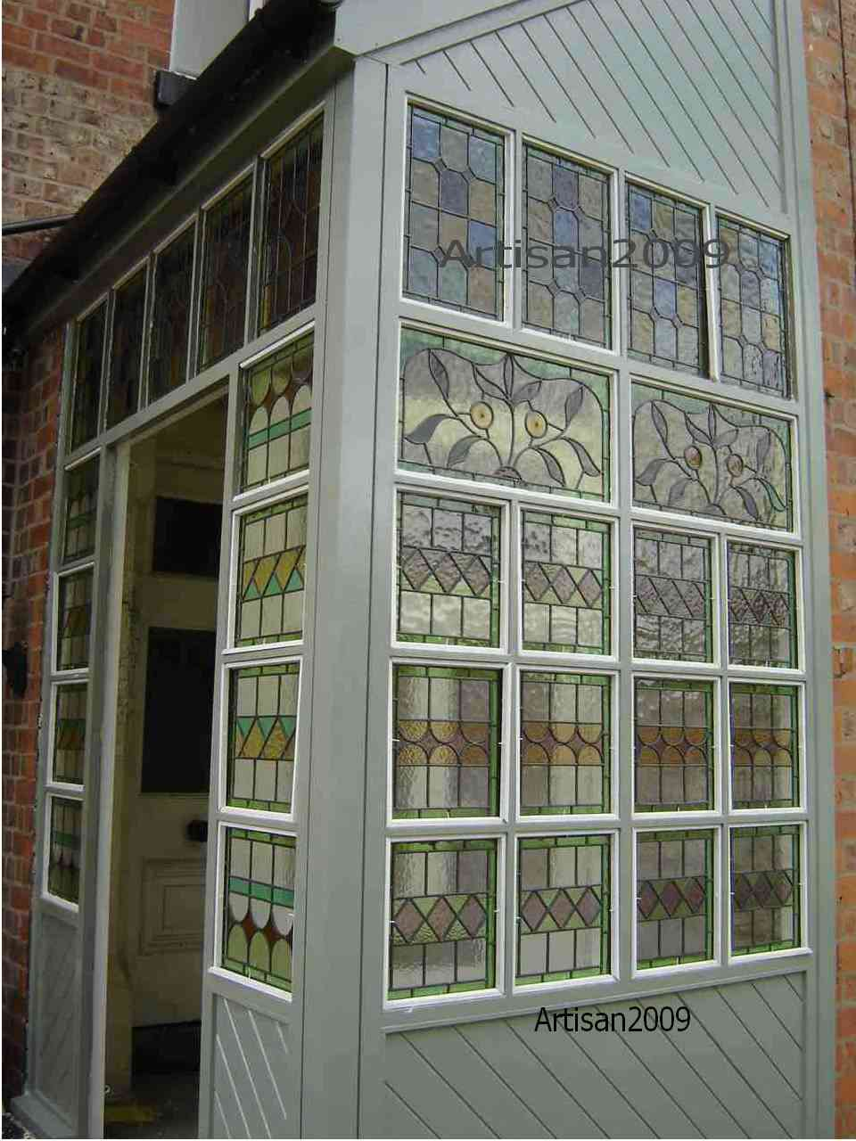 Above A New Stained Glass Porch In Sale Manchester With Windows Designed And Made By Artisan