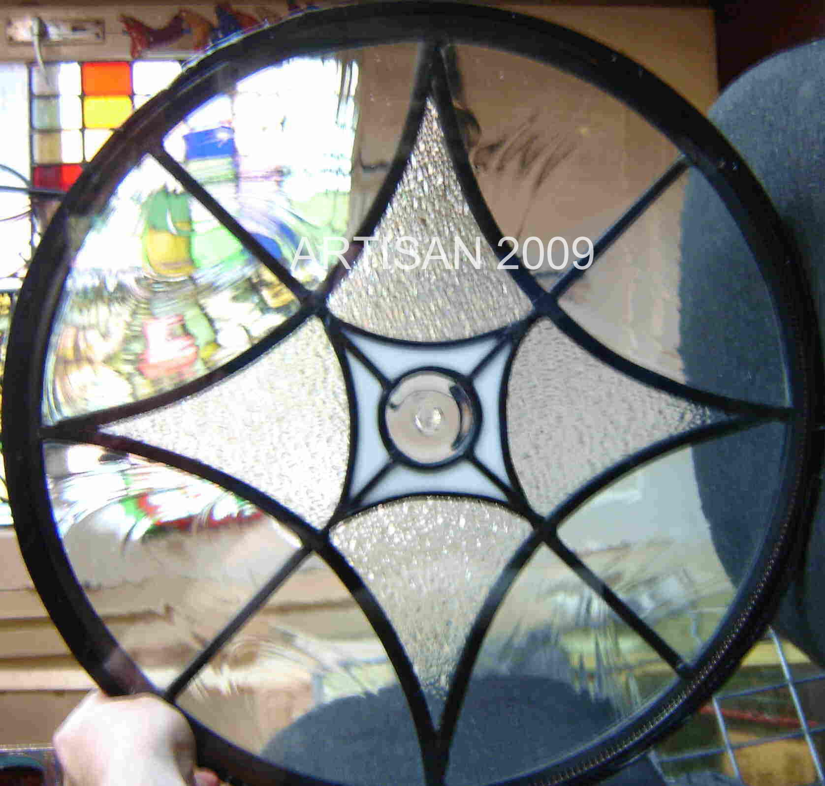 Small Round Windows: Artisan Stained Glass- Modern Comissions