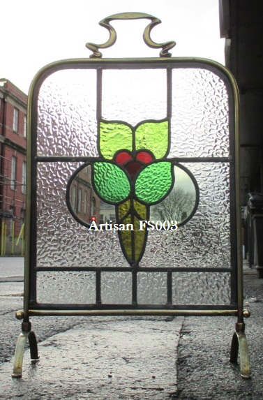 Stained Glass Fireplace Screen Fireplaces